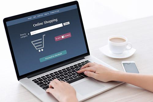 kerja dari rumah-online shopping